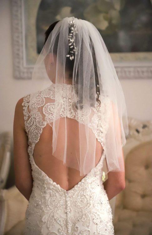 Karina in her wedding dress.