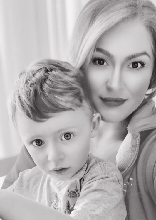 Jacquelyn and her son.