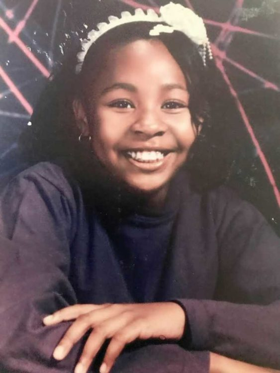 Ayanna, school picture from her teen years.