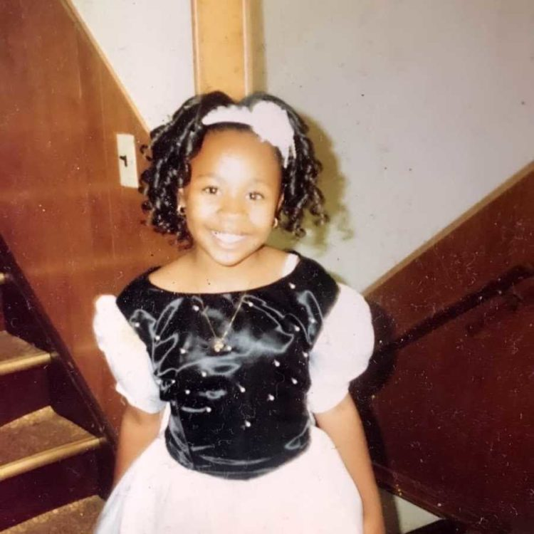 Ayanna as a child.