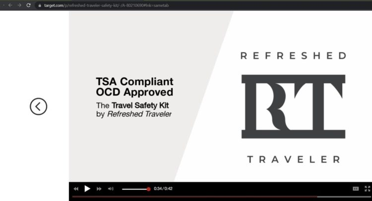 """Target video claiming the kit is """"OCD approved"""""""