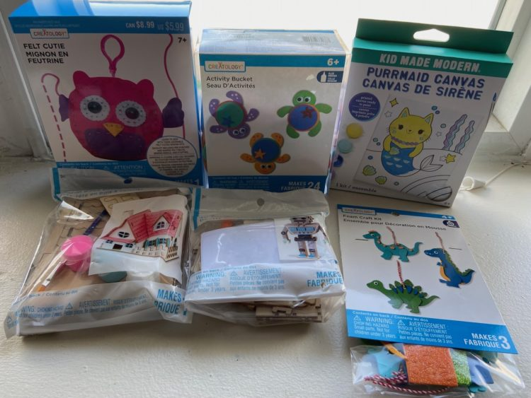 Photo of boxes and bags of crafts